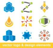 De elementen van het embleem en van het ontwerp Stock Afbeeldingen
