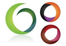 De elementen van het embleem - kleur Stock Foto's