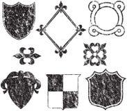 De Elementen van het Embleem van Grunge royalty-vrije illustratie