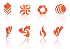 De elementen van het embleem - vector Stock Foto