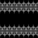 De elementen van het grenspatroon met verfijnde bloemen en kantlijnen in Indische mehndistijl Royalty-vrije Stock Fotografie