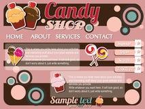 De elementen van het het malplaatjeontwerp van de website Stock Afbeelding