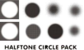 De elementen van het het pakontwerp van de halftintcirkel Royalty-vrije Stock Afbeeldingen