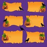 De elementen van het het plakboekontwerp van Halloween Royalty-vrije Stock Foto