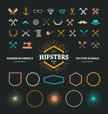 De Elementen van het Hipsterontwerp stock illustratie