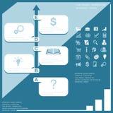 De elementen van het Infographicontwerp Royalty-vrije Stock Fotografie