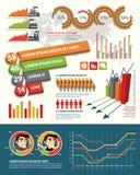 De elementen van het Infographicontwerp Royalty-vrije Stock Afbeeldingen