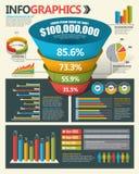 De elementen van het Infographicontwerp Stock Foto's