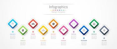 De elementen van het Infographicontwerp voor uw bedrijfsgegevens met 10 opties Royalty-vrije Stock Foto
