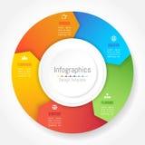 De elementen van het Infographicontwerp voor uw bedrijfsgegevens met 5 opties Stock Foto's
