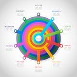 De elementen van het Infographicontwerp voor uw bedrijfsgegevens met 10 opties Stock Afbeelding