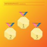De elementen van het Infographicsontwerp Stock Foto