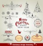 De elementen van het Kerstmisontwerp Royalty-vrije Stock Fotografie