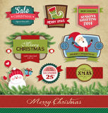 De elementen van het Kerstmisontwerp Stock Afbeelding