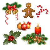 De elementen van het Kerstmisontwerp royalty-vrije illustratie