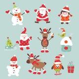De elementen van het Kerstmisplakboek Stock Afbeeldingen