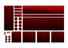 De Elementen van het Malplaatje van het Web Stock Afbeeldingen
