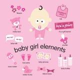 De Elementen van het Meisje van de baby Royalty-vrije Stock Afbeelding