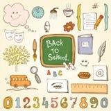 De elementen van het onderwijsontwerp Stock Foto's