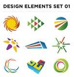 De elementen van het ontwerp Stock Afbeelding