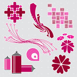 De elementen van het ontwerp #2 Stock Foto