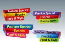 De elementen van het ontwerp Stock Foto's