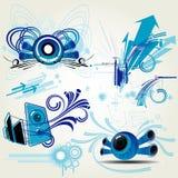 De elementen van het ontwerp Royalty-vrije Stock Afbeeldingen