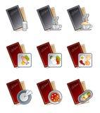De Elementen van het ontwerp 47d. Geplaatste de Pictogrammen van het menu Stock Foto's