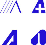 De Elementen van het ontwerp - Alfabet A Royalty-vrije Stock Fotografie