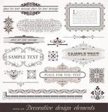 De elementen van het ontwerp & paginadecor Stock Fotografie