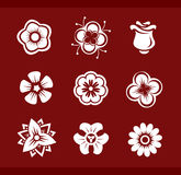 De elementen van het ontwerp: Bloemen (part2) Stock Foto's