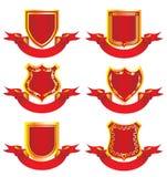 De Elementen van het ontwerp - Emblemen en medailles. Royalty-vrije Stock Foto