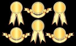 De Elementen van het ontwerp - Emblemen en medailles. Royalty-vrije Stock Afbeelding
