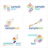 De elementen van het ontwerp Geplaatste pictogrammen Royalty-vrije Stock Fotografie