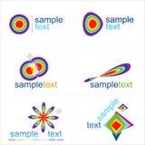De elementen van het ontwerp Geplaatste pictogrammen Royalty-vrije Stock Afbeelding