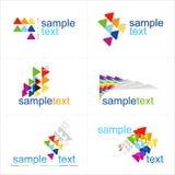 De elementen van het ontwerp Geplaatste pictogrammen Stock Foto