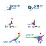 De elementen van het ontwerp Geplaatste pictogrammen Royalty-vrije Stock Foto