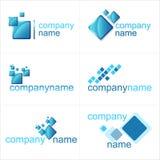 De elementen van het ontwerp Geplaatste pictogrammen Stock Fotografie