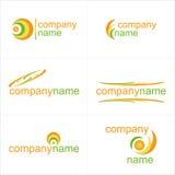 De elementen van het ontwerp Geplaatste pictogrammen Stock Afbeeldingen