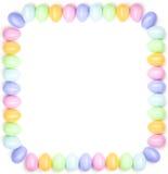 De elementen van het ontwerp - kleurrijke Paaseierengrens Stock Foto's