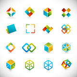 De elementen van het ontwerp - kubussen Stock Afbeelding