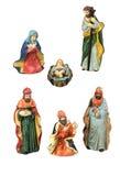 De Elementen van het Ontwerp van de Geboorte van Christus van Kerstmis Stock Fotografie
