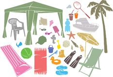 De Elementen van het Ontwerp van de zomer Royalty-vrije Stock Foto's