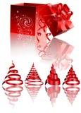De Elementen van het Ontwerp van Kerstmis Royalty-vrije Stock Fotografie