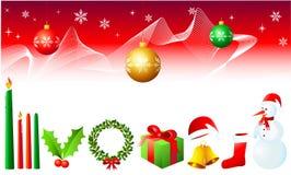 De Elementen van het Ontwerp van Kerstmis Royalty-vrije Stock Afbeelding