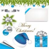 De Elementen van het Ontwerp van Kerstmis Stock Foto