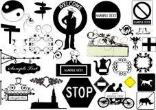 De elementen van het ontwerp - vector Stock Foto