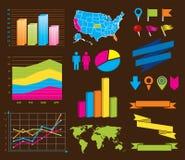 De elementen van het ontwerp voor infografiek Vector Illustratie