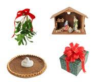 De Elementen van het ontwerp voor Kerstmis stock afbeelding
