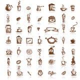 De elementen van het ontwerp voor koffiebedrijf Stock Fotografie